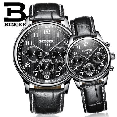 Binger Swiss Sapphire Mechanical Couple Watch BS603CL