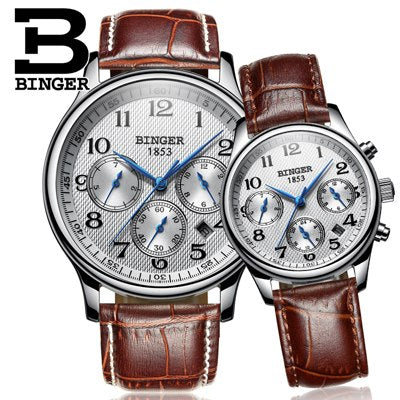 Image of Binger Swiss Sapphire Mechanical Couple Watch BS603CL