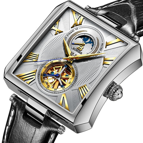 Binger Swiss Square Tourbillon Mechanical Men's Watch B 5071
