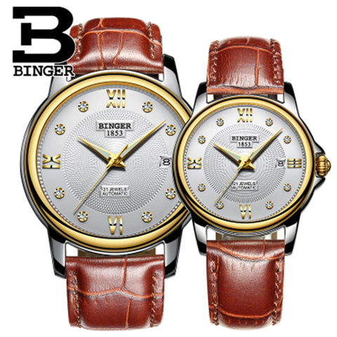 Image of Binger Swiss Mechanical Couple Watch BS143CS