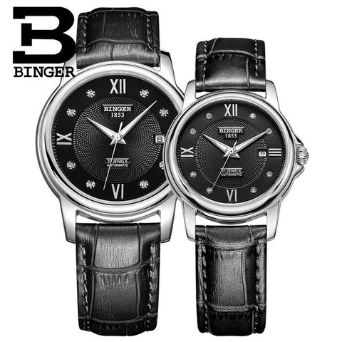 Binger Swiss Mechanical Couple Watch BS143CS