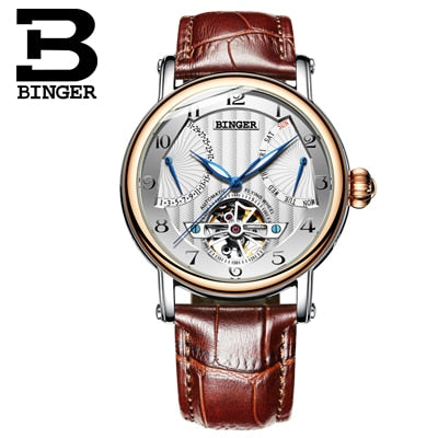 Image of Binger Swiss Super Luxury Tourbillon Mechanical Watch Men B 1172
