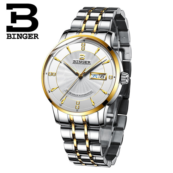 Binger Swiss Mechanical Watch Men B 1176