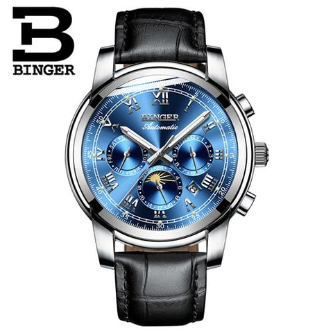 Binger Swiss Mechanical Moon Phase Watch B 1178