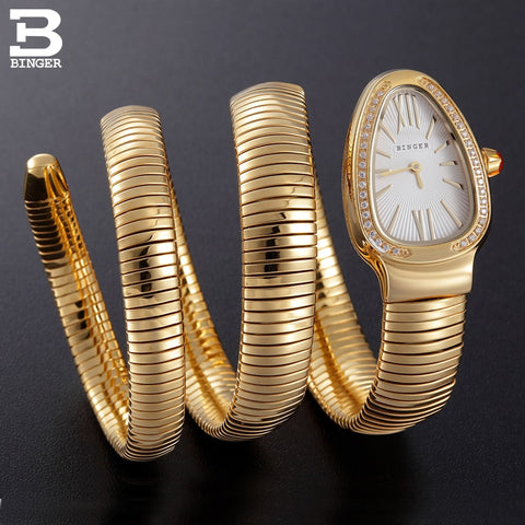 Image of Binger Swiss Snake Quartz Watch Women B 6900
