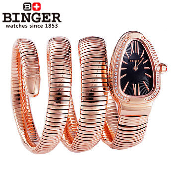 Binger Swiss Snake Quartz Watch Women B 6900