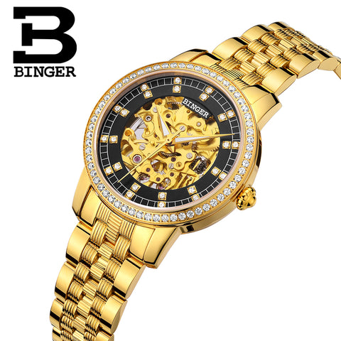 Binger Swiss Mechanical Miyota Luxury Women Watch B 5051