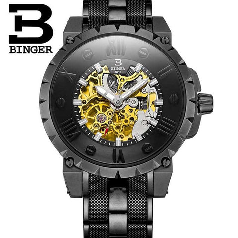 Image of Binger Swiss Skeleton Robust Mechanical Watch B 5032