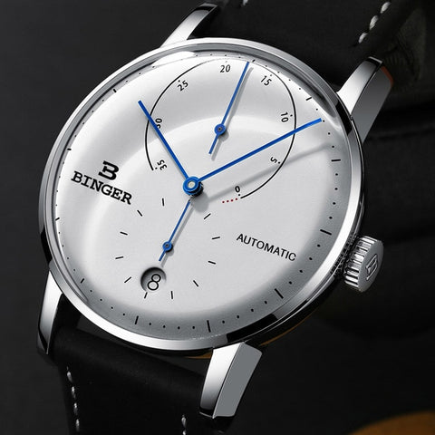 Image of Binger Swiss Sapphire Curved Mechanical Watch Men B 1187