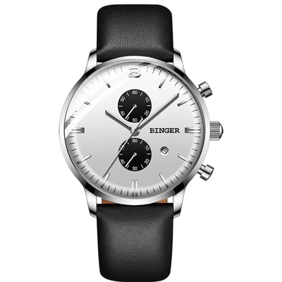 Image of Binger Swiss Chronograph Quartz Watch Men B 1212