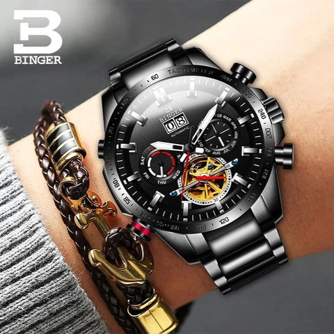 Image of Binger Swiss Speedo Mechanical Watch B 10003C