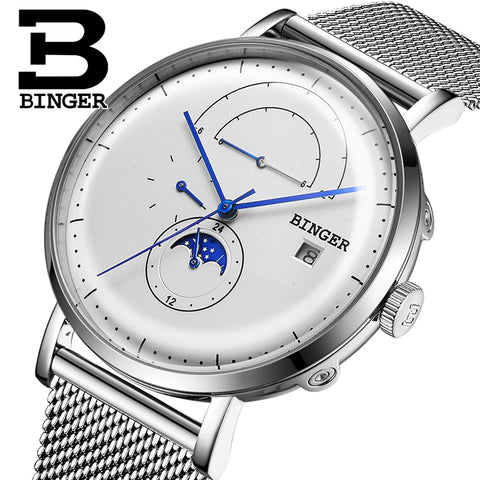 Image of Binger Swiss Curved Mechanical Watch B 8610