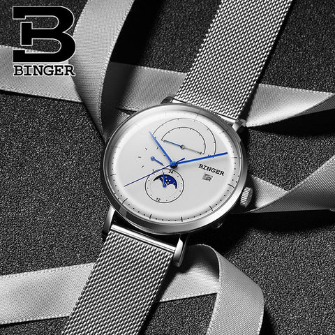 Binger Swiss Curved Mechanical Watch B 8610