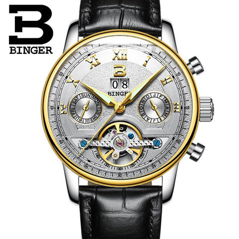 Image of Binger Swiss Sapphire Tourbillon Watch Men B 8603