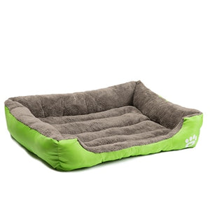 Deluxe Dog Bed - Superior Quality, Comfortable, Waterproof Backing - green