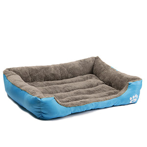 Deluxe Dog Bed - Superior Quality, Comfortable, Waterproof Backing - blue