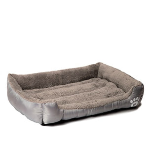 Deluxe Dog Bed - Superior Quality, Comfortable, Waterproof Backing - gray