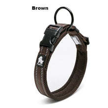 Load image into Gallery viewer, Ultimate Dog Collar - Padded, All Weather, Reflective, Steel Ring, Quick Release Buckle - Brown