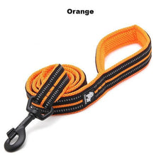 "Load image into Gallery viewer, Ultimate Dog Leash - 200 cm - 78.7"" - All Weather, Reflective - Orange"