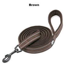 "Load image into Gallery viewer, Ultimate Dog Leash - 200 cm - 78.7"" - All Weather, Reflective - Brown"