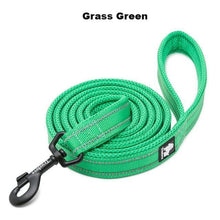 "Load image into Gallery viewer, Ultimate Dog Leash - 110cm  - 43.3"" - All Weather, Reflective - Soft handle - grass green"