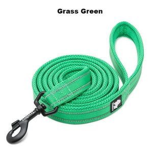 "Ultimate Dog Leash - 110cm  - 43.3"" - All Weather, Reflective - Soft handle - grass green"