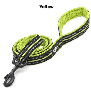 "Ultimate Dog Leash - 110cm  - 43.3"" - All Weather, Reflective - Soft handle - Yellow"