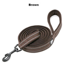 "Load image into Gallery viewer, Ultimate Dog Leash - 110cm  - 43.3"" - All Weather, Reflective - Soft handle - brown"