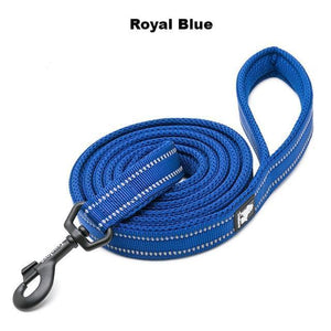 "Ultimate Dog Leash - 110cm  - 43.3"" - All Weather, Reflective - Soft handle - royal blue"