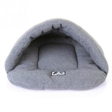 Load image into Gallery viewer, Cave Dog Bed - GreyCave Dog Bed - Warm, Cozy, Comfortable, High Quality