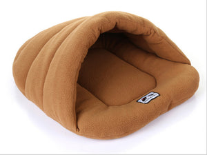 Cave Dog Bed - Warm, Cozy, Comfortable, High Quality - caramel