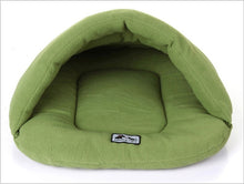 Load image into Gallery viewer, Cave Dog Bed - GreenCave Dog Bed - Warm, Cozy, Comfortable, High Quality