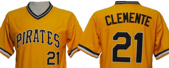 super popular 3d43a 6695e Roberto Clemente Pittsburgh Pirates Yellow Throwback Jersey.