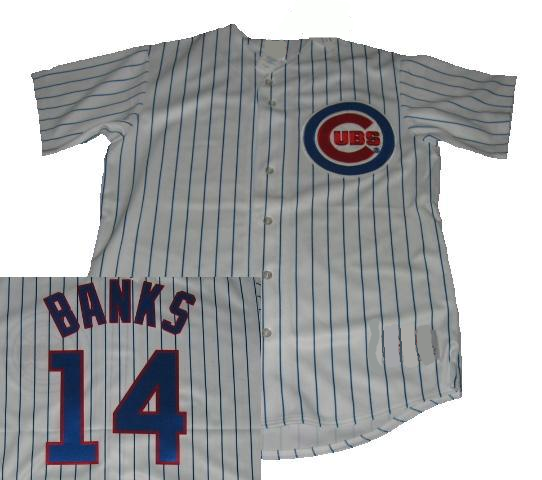 Ernie Banks Chicago Cubs Home Throwback Jersey