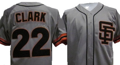 Will Clark San Francisco Giants Throwback Road Jersey