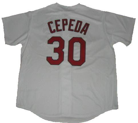 Orlando Cepeda St. Louis Cardinals Home Throwback Jersey