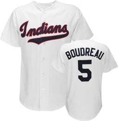 Lou Boudreau Cleveland Indians Throwback Jersey