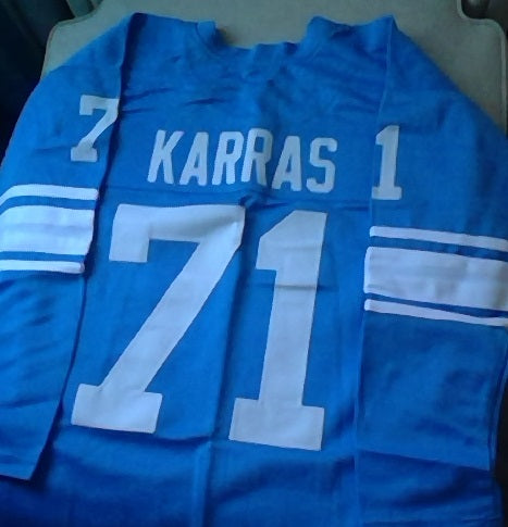 Alex Karras Detroit Lions Long Sleeve Football Jersey (In-Stock-Closeout) Size XL / 48 Inch Chest
