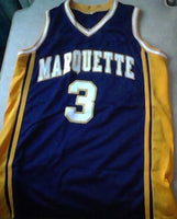 Dwayne Wade Marquette Basketball Jersey (In-Stock-Closeout) Size Large / 44 Inch Chest