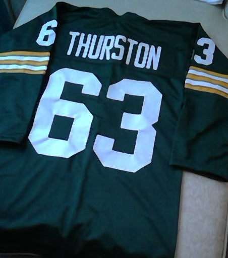 Fuzzy Thurston Green Bay Packers Long Sleeve Football Jersey (In-Stock-Closeout) Size Xtra Small / 32 Inch Chest