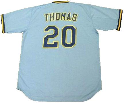 Gorman Thomas Milwaukee Brewers Baseball Jersey (In-Stock-Closeout) Size XL / 48 Inch Chest