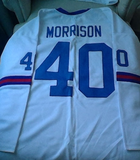 Joe Morrison 70-71 New York Giants Long Sleeve Football Jersey (In-Stock-Closeout) Size 3XL / 56 Inch Chest