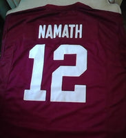 Joe Namath Alabama Crimson Tide Football Jersey (In-Stock-Closeout) Size 2XL / 52 Inch Chest
