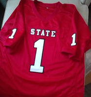 NC State Football Jersey Football Jersey with #1 and name Bradley (In-Stock-Closeout) Size 2XL / 52 Inch Chest