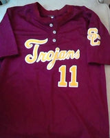 USC Trojans Baseball Jersey #11 Wood (In-Stock-Closeout) Size Large / 44 Inch Chest