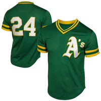 Rickey Henderson 1991 Oakland Athletics Throwback Jersey