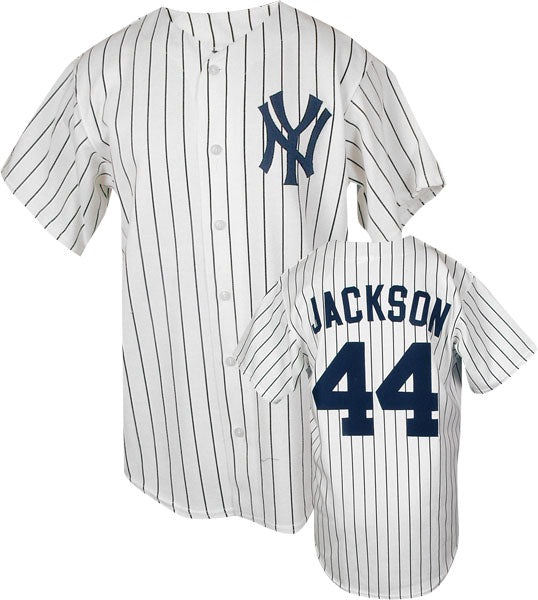 new arrival ff203 0d373 Reggie Jackson New York Yankees Throwback Home Jersey