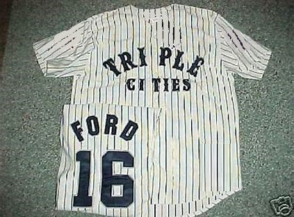 Whitey Ford Binghamton Triple Cities Minor League Jersey