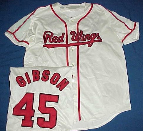 Bob Gibson 1960 Rochester Red Wings Minor League Jersey
