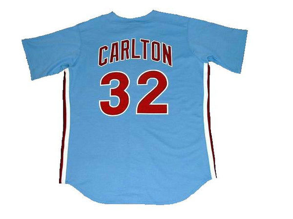 Steve Carlton Phillies Road Throwback Jersey